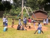 Kids play at new orphanage swing set